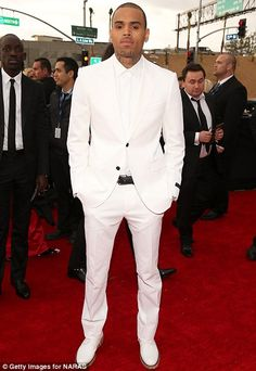 Develop a Style all your own: Own your signature. Chris Brown in White On White