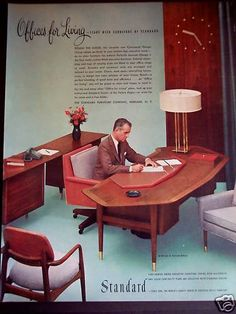 1956 standard office furniture desk chairs vintage ad ebay amazing retro office chair
