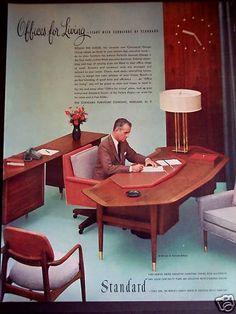 1956 Standard Office Furniture Desk Chairs vintage ad | eBay