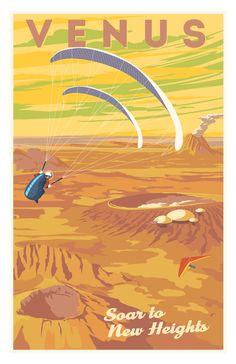 Venus Paragliding Poster