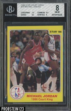 8b12daf7ecd 1986 Star Court Kings Basketball  18 Michael Jordan RC Rookie HOF BGS 8   MichaelJordan