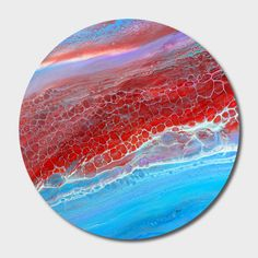 Discover «red cells», Exclusive Edition Disk Print by Annemarie Ridderhof - From 80€ - Curioos