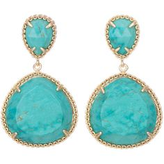 Kendra Scott Penny Post Earrings, Turquoise ($85) ❤ liked on Polyvore featuring jewelry, earrings, turquoise, 14k earrings, blue turquoise earrings, turquoise jewellery, green turquoise jewelry and turquoise post earrings