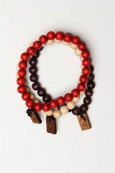Bracelet 3-Pack Natural Red Dark Brown Piercing 56542e668699