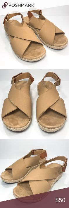 348fe80e0a1e Spenco Marfa Leather Orthotic Wedge Sandal Sz 8 Very Comfortable Leather  Sandals From Spenco. Tried