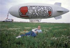 Keith Haring photographed by Tseng Kwong Chi, Paris environs,...