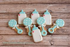 Baby Shower Cookies -The Baked Equation - Phoenix