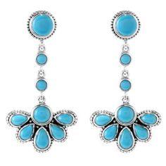 """Artisan Silver by Samuel B. 1.75"""" Multi Shape Gemstone Fan Drop Earrings"""