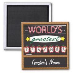 #teacher - #World's Greatest Teacher | Personalize Magnet