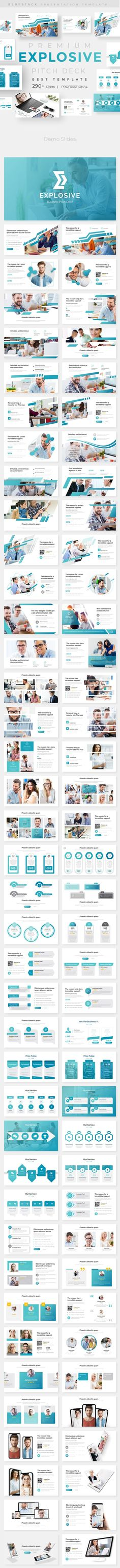 Explosive Business Pitch Deck Powerpoint Template Business Presentation by bluestack. Business Presentation Templates, Corporate Presentation, Presentation Design Template, Presentation Slides, Business Templates, Design Templates, Creative Powerpoint Templates, Keynote Template, Pitch