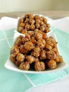 Peanut Butter Roasted Chickpeas