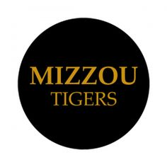 """University of Missouri 1-1/2"""" Round Labels - Free Shipping. Use these semi-gloss circle labels to seal envelopes or as an eye catching touch to demonstration your school pride. GO TIGERS!"""