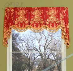 Sewing Curtains board-mounted valance - Are you looking for the ultimate luxury in your window treatments? Then a heavy, board-mounted valance with lo No Sew Curtains, Rod Pocket Curtains, Valance Curtains, Valance Ideas, Window Valances, Valance Patterns, Curtain Trim, Drapery Ideas, Burlap Curtains
