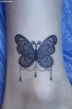 Ankle Butterfly Tattoos Designs – Small 3D Ankle Butterfly Tattoo ...