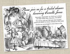 Alice in Wonderland Invitations - Baby Shower / Bridal Shower