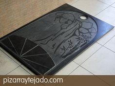 Plato de ducha de diseño personalizado. Pizarra natural. #pizarra #pizarranatural #naturalslate #pizarras #ardoise #slate