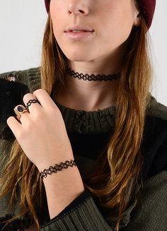 90s fashion - always ending up taking my necklace off cuz it felt like it was choking me! lol