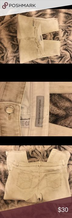 Jeans, Khaki color with some bling. Jeans, Khaki color with some bling.  Chicos size 2.5, regular size 14-16. EUC Chico's Jeans