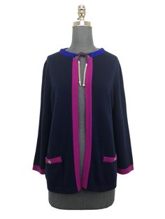 Chanel Cashmere Open Sweater Size L