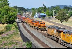 RailPictures.Net Photo: PNWR 3002 Portland & Western Railroad EMD GP40-2 at Albany, Oregon by Austin Jacox