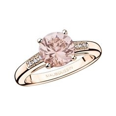 Tendance Joaillerie 2017  Mauboussin-vente bijoux montres Mauboussin  Tendance & idée Joaillerie 2016/2017 Description Mauboussin / Bague (fiançailles) Un grand mot de tendresse en Morganite / 897 au lieu de 1495