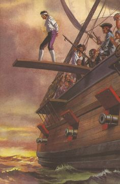 Walking the plank- Pirates. Pirate Art, Pirate Life, Peter Pan Art, Museum Plan, Old Sailing Ships, Walking The Plank, Ladybird Books, Black Sails, Treasure Island