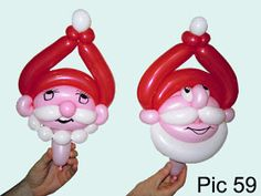 Balloon animals twisting instructions: Balloon Santa Claus