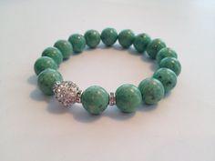 Green Riverstone Bracelet by SharonKrug on Etsy, $17.50