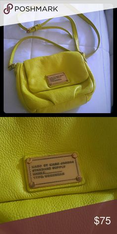 Bag Beautiful yellow Marc jacobs bodycross bag. Perfect for night out r comfortable days. Marc Jacobs Bags Crossbody Bags