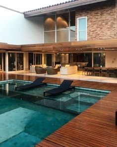 Discover recipes, home ideas, style inspiration and other ideas to try. Pool House Designs, Backyard Pool Designs, Swimming Pools Backyard, Swimming Pool Designs, Dream Home Design, My Dream Home, Luxury Homes Dream Houses, Dream House Exterior, Modern House Plans