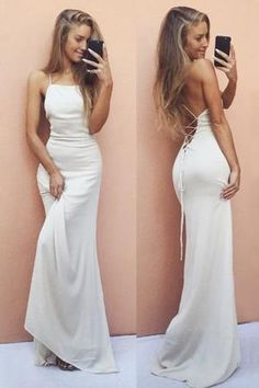 Prom Dress Beautiful, 2019 Mermaid Spaghetti Straps Open Back Chiffon Lace Up Evening Dresses, Discover your dream prom dress. Our collection features affordable prom dresses, chiffon prom gowns, sexy formal gowns and more. Find your 2020 prom dress Wite Prom Dresses, Straps Prom Dresses, Elegant Prom Dresses, Mermaid Prom Dresses, Cheap Prom Dresses, Formal Evening Dresses, Sexy Dresses, Fashion Dresses, Dress Formal