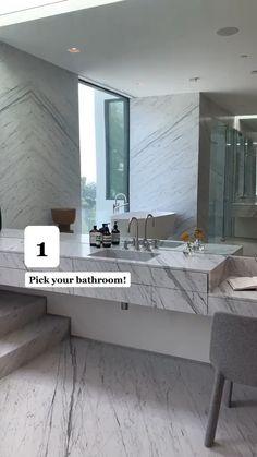 Luxury Master Bathrooms, Bathroom Design Luxury, Dream Bathrooms, Modern Bathroom Design, Beautiful Bathrooms, Modern House Design, Modern Toilet Design, Best Bathroom Designs, Upstairs Bathrooms