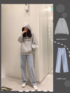 Korean Casual Outfits, Korean Outfit Street Styles, Korean Fashion Dress, Ulzzang Fashion, Korean Street Fashion, Kpop Fashion Outfits, Korea Fashion, Cute Casual Outfits, Simple Outfits