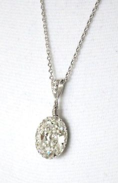 "Beautiful Swarovski diamond necklace given to the bride as ""something old"" from her mother, who wore it at her wedding."