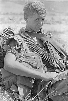 """A photo of a young US Vietnam Warrior. Look at that face and remember your worse day.  """"Unless you do your best, the day will come when, tired and hungry, you will halt just short of the goal you were ordered to reach, and  by halting you will make useless the efforts and deaths of thousands."""" - Gen. George S. Patton"""