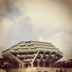 The amazing Geisel Library (formerly the Central Library) at UCSD La Jolla. Designed by William Pereira.