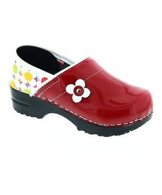 Look what I found on #zulily! Red Blush Patent Leather Clog - Girls #zulilyfinds