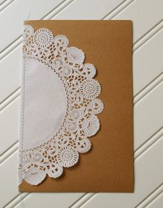 Sewn+Doily+Kraft+Wedding+Programs+Custom+Colors+by+RubyLaneMoments,+$2.25