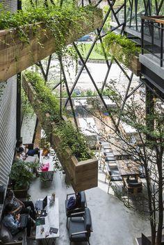 Steel-Framed Café Becomes Hanging Garden in Vietnam - Freshome.com