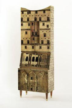 Cabinet | Ponti, Gio, born 1891 - died 1979 (designer) Fornasetti, Piero, born 1913 - died 1988 (artist) I Fratelli Radici (maker)