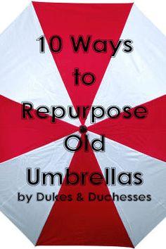 10 ways to repurpose old umbrellas