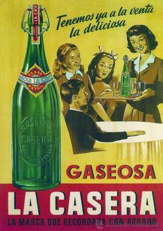Cuadro cartel publicidad de bebida GASEOSA LA CASERA