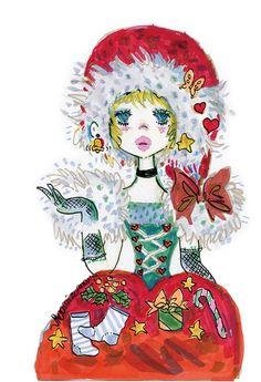 ジュエリーブランドのA・D・A(エー・ディー・エー)が、「アドちゃん」の愛称で親しまれるイラストレーター・水森亜土とのコラボレーションによるジュエリーを発売する。ふたりだけの特別な時間「TIME」をテーマに、リングにネックレス、ピアスをラインナップ。2014年10月25日(土)から12月25日(木)... Art And Illustration, Illustrations, Pix Art, Comic Art, Princess Zelda, Kawaii, Fancy, Japan, Comics