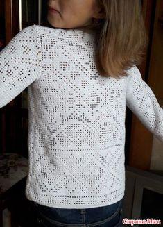 . Пуловер с бусинами для Маруси филейкой