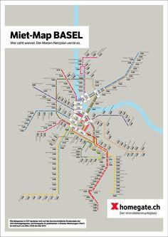 Wer zahlt wieviel für seine Stadtwohnung – Miet-Map Basel