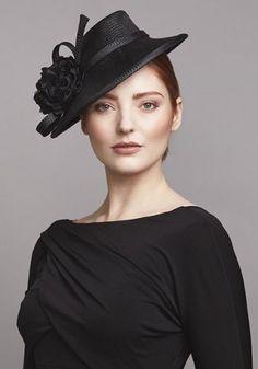 Rachel Trevor-Morgan :: Black zigzag straw perching hat with flowers Rachel Trevor Morgan, Occasion Hats, Bridal Hat, Boho Fashion, Womens Fashion, Cheap Fashion, Fashion Styles, Kentucky Derby Hats, Fancy Hats
