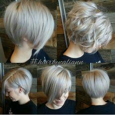 Short Layered Ash Blonde Bob Frisuren dünnes Haar 70 Devastatingly Cool Haircuts for Thin Hair Modern Short Hairstyles, Cute Short Haircuts, Thin Hair Haircuts, Cool Haircuts, Pixie Haircuts, Blonde Hairstyles, Hairstyles 2016, Beautiful Hairstyles, Messy Hairstyles