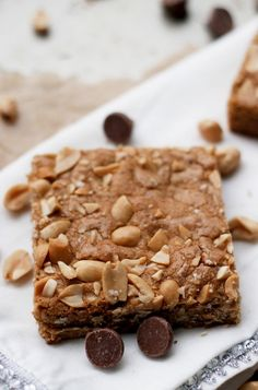 Salted peanut blondies  from  Eats Well with Others by Joanne Bruno
