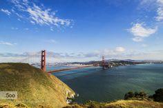 Golden Gate Bridge by ChetnaChandra  blue bridge california city goldengate river san francisco sanfrancisco sf sunset travel water Golde