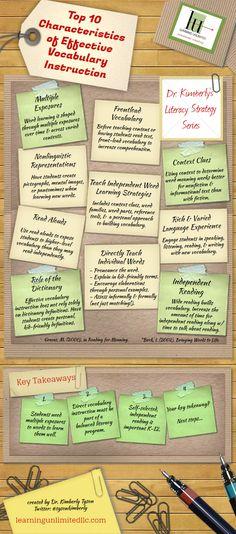 10 características de un vocabulario efectivo en formación